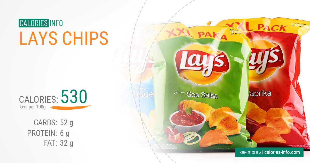 Lays chips - caloies, wieght
