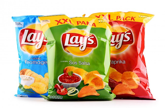 Lays chips - calories, kcal