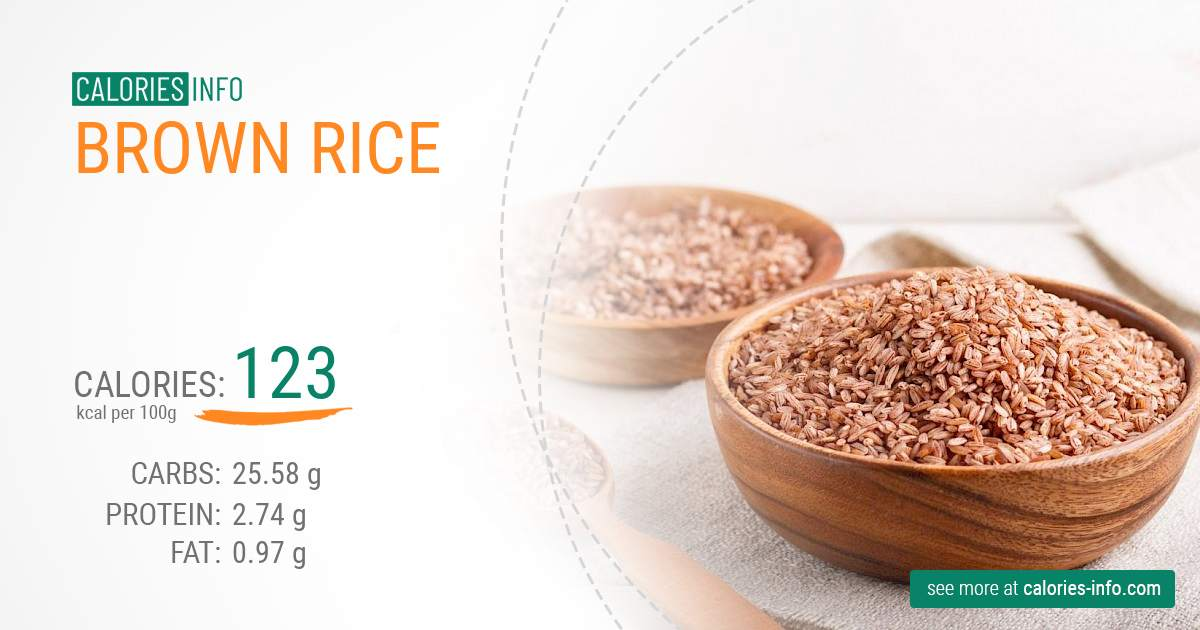 Brown rice - caloies, wieght
