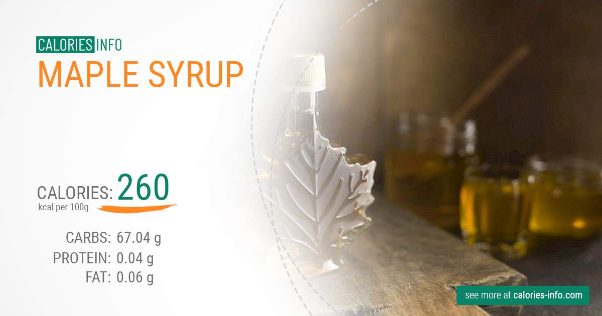 Maple syrup - caloies, wieght