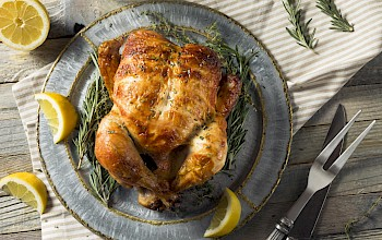 Rotisserie chicken - calories, nutrition, weight