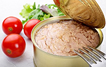 Tuna can in water - calories, nutrition, weight