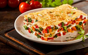 Vegetarian lasagna - calories, nutrition, weight