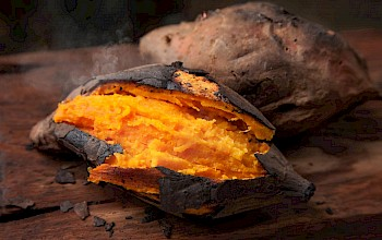 Baked sweet potato - calories, nutrition, weight