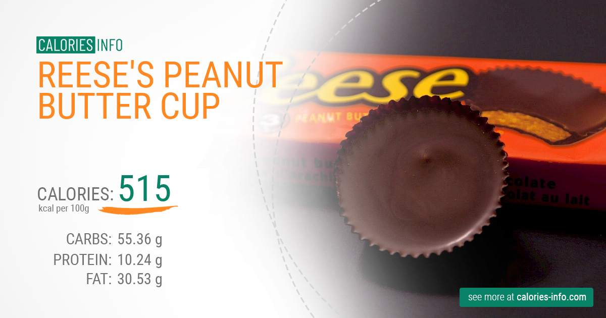 Reese's Peanut Butter Cup - caloies, wieght