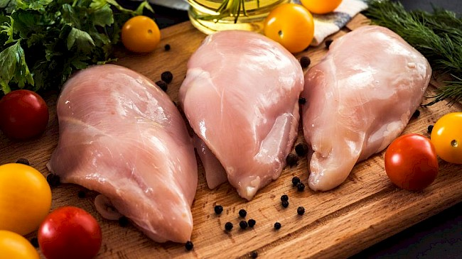 Skinless chicken breast - calories, kcal