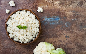 Cauliflower rice - calories, nutrition, weight
