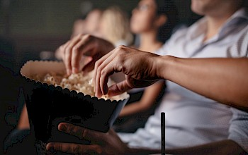 Movie Theater Popcorn with butter - calories, nutrition, weight
