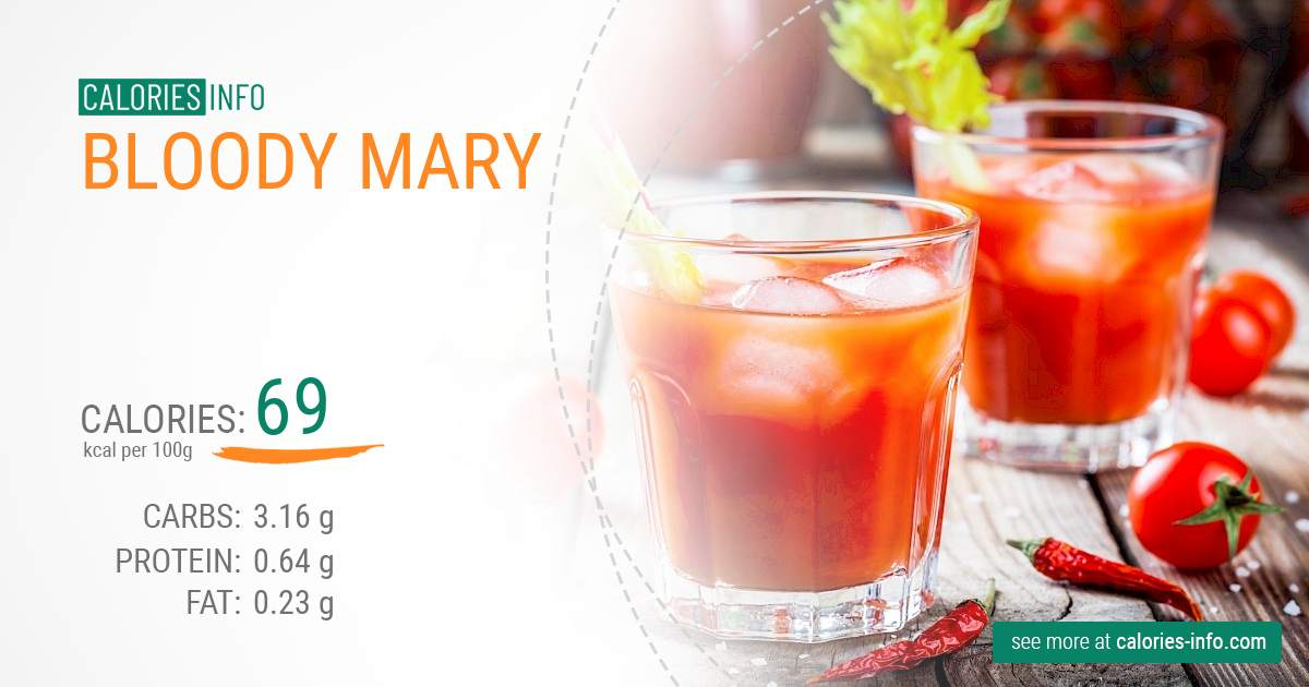 Bloody Mary - caloies, wieght