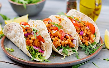 Tacos with beans - calories, nutrition, weight
