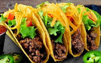 Tacos with meat - calories, nutrition, weight