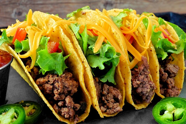 Tacos with meat - calories, kcal
