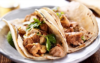 Tacos with chicken - calories, nutrition, weight