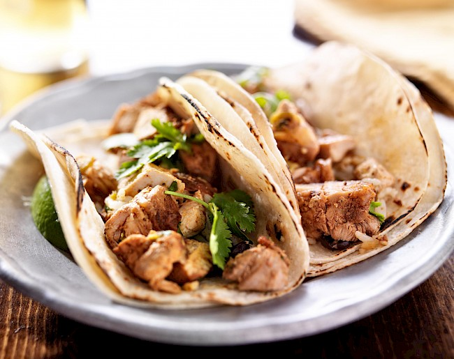 Tacos with chicken - calories, kcal