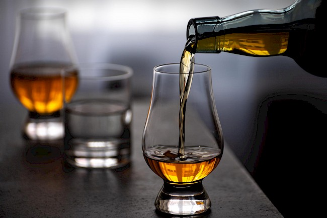 Whiskey and water - calories, kcal