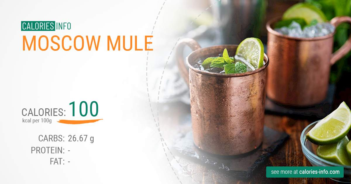 Moscow mule - caloies, wieght