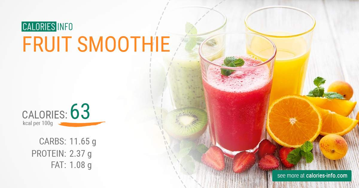 Fruit smoothie - caloies, wieght