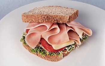 Ham sandwich - calories, nutrition, weight