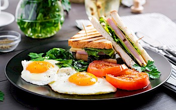 Ham and egg sandwich - calories, nutrition, weight