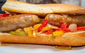 Sausage sandwich - calories, nutrition, weight