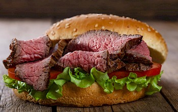 Meat sandwich - calories, nutrition, weight
