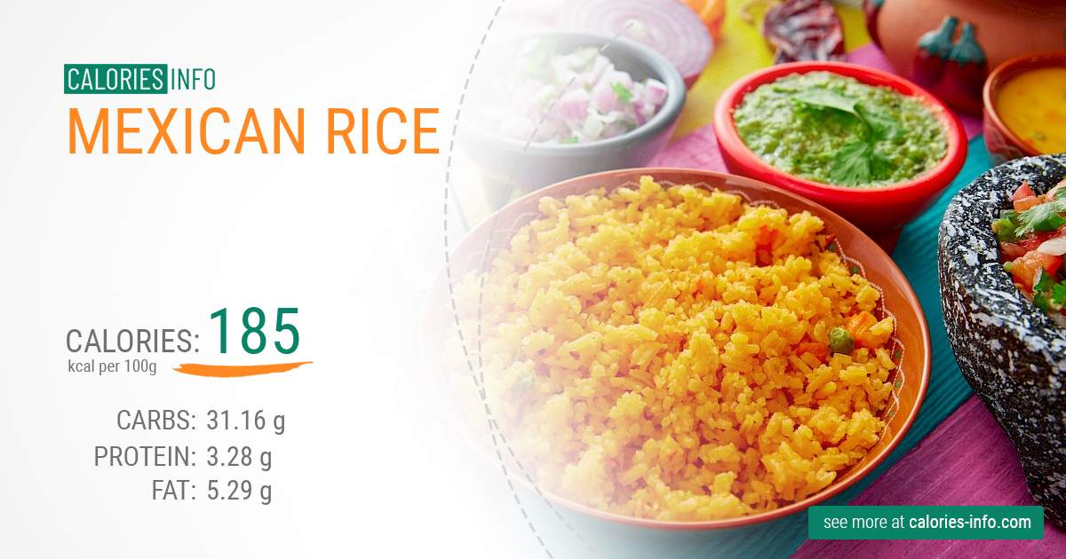 Mexican rice - caloies, wieght