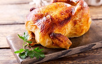 Roasted chicken - calories, nutrition, weight