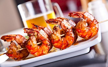 Grilled shrimp - calories, nutrition, weight