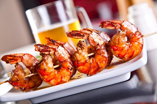 Grilled shrimp - calories, kcal