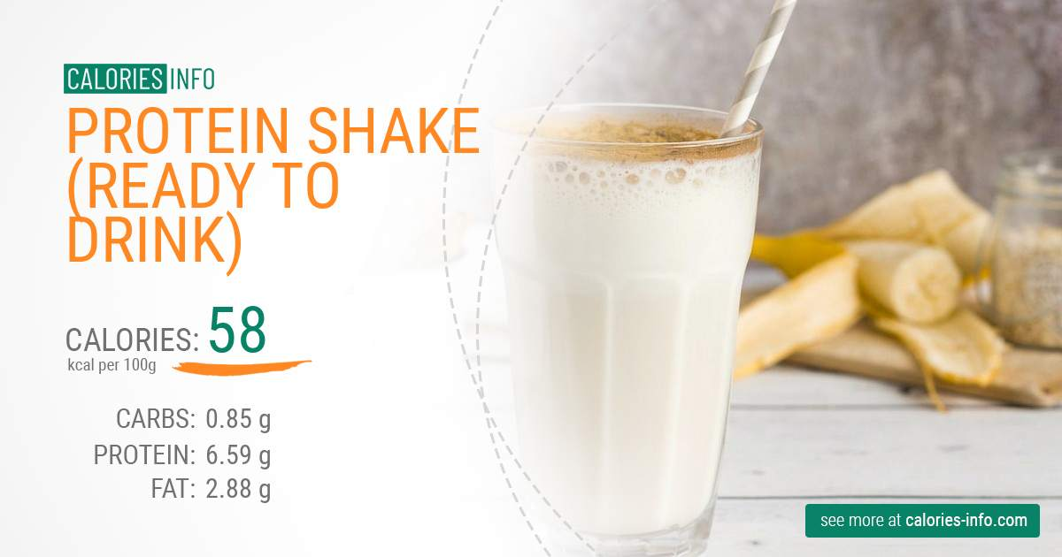 Protein shake (ready to drink) - caloies, wieght