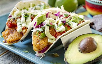 Fish taco - calories, nutrition, weight