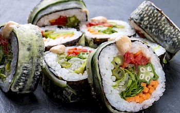 Vegetable sushi roll - calories, nutrition, weight