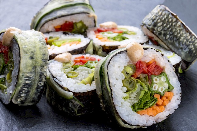 Vegetable sushi roll - calories, kcal