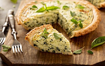Cheese quiche - calories, nutrition, weight