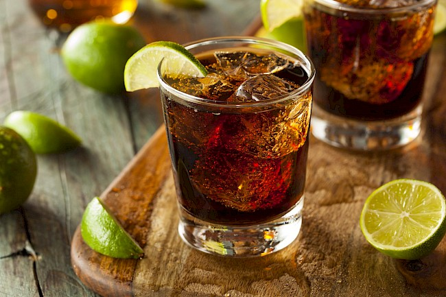 Rum and cola - calories, kcal