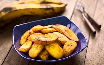 Fried plantain - calories, nutrition, weight
