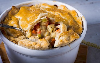 Vegetarian pot pie - calories, nutrition, weight