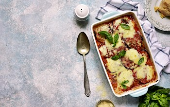 Eggplant parmesan casserole - calories, nutrition, weight