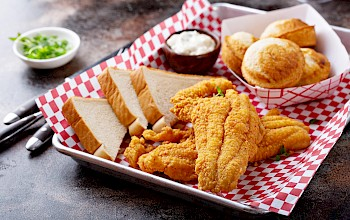 Fried catfish - calories, nutrition, weight