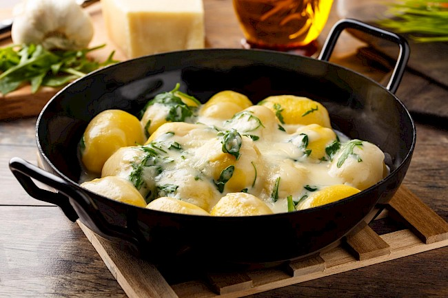 Gnocchi with cheese - calories, kcal