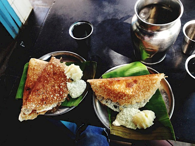 Dosa with filling - calories, kcal