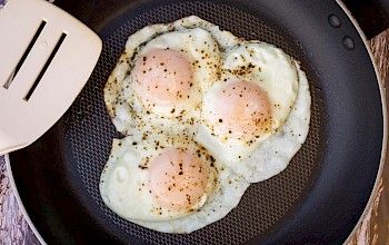 Egg over easy - calories, nutrition, weight