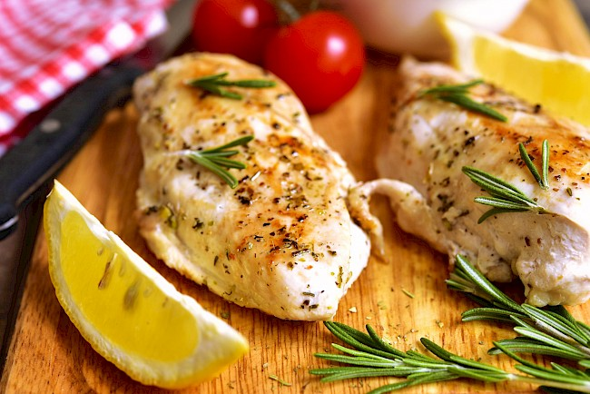Baked chicken breast - calories, kcal
