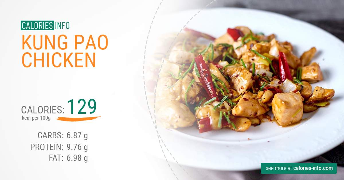 Kung pao chicken - caloies, wieght