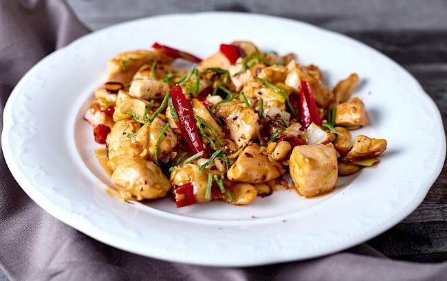 Kung pao chicken - calories, kcal