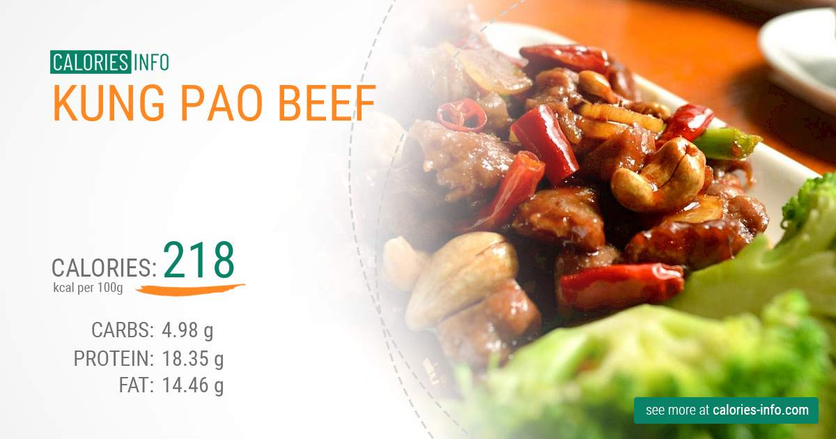 Kung Pao beef - caloies, wieght