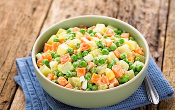 Pea salad - calories, nutrition, weight