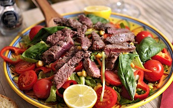 Beef salad - calories, nutrition, weight