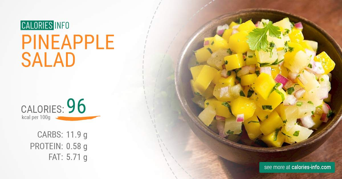 Pineapple salad - caloies, wieght