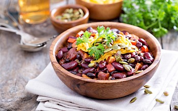 Black bean salad - calories, nutrition, weight